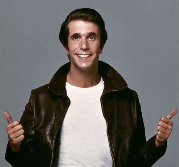 What did the Fonz cover up?