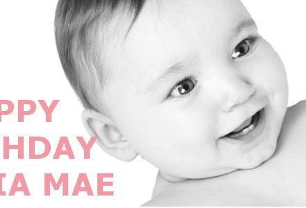 Happy 1st Birthday Amelia Mae