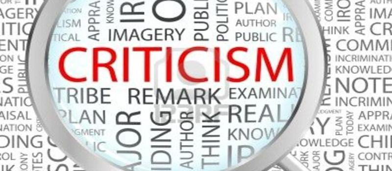 Deal with criticism