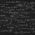 Black Board With Various Mathematical Equations Written In White chalk